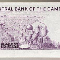 Billetes extranjeros: GAMBIA. 1 DALASI. Lote 255537275