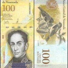 Billetes extranjeros: VENEZUELA 100000 100,000 BOLIVARES 13 DEC 2017 P 100B UNC. Lote 255592205