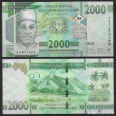 Billetes extranjeros: GUINEA BILLETE 2000 FRANCOS 2018 PICK#NUEVO SIN CIRCULAR. Lote 255592270