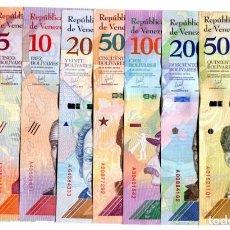 Billetes extranjeros: VENEZUELA SET 8 PCS 2 5 10 20 50 100 200 500 BOLIVARES SOBERANOS 2018 P NEW UNC. Lote 255593335