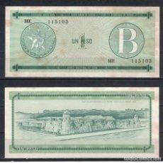 Billetes extranjeros: CUBA 1985 UN PESO - CERTIFICATE B 1 PESO KM# XF. Lote 255593765
