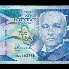 Billetes extranjeros: BARBADOS 2 DOLLARS 2013 PICK 73A SC UNC. Lote 255940785