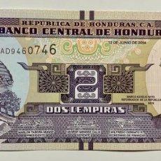 Billetes extranjeros: HONDURAS 2 LEMPIRA 2014 SC / UNC. Lote 255972275