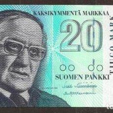 Billetes extranjeros: FINLANDIA. 20 MARKKAA 1997. PICK 123. ULTIMO BILLETE EMITIDO ANTES DE PASAR AL EURO.. Lote 257271415
