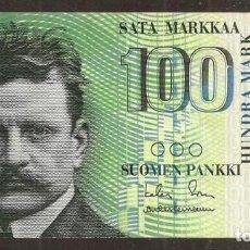 Billetes extranjeros: FINLANDIA. 100 MARKKAA 1986 (1991). LITT. A. PICK 119. VARIANTE DE FIRMAS.. Lote 257272450