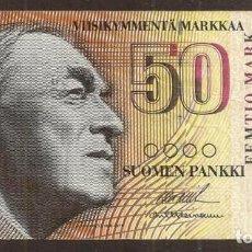 Banconote internazionali: FINLANDIA. 50 MARKKAA 1986. LITT. A. PICK 118. VARIANTE DE FIRMAS.. Lote 257512830