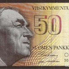 Billetes extranjeros: FINLANDIA. 50 MARKKAA 1986. SIN LITT. PICK 114. VARIANTE DE FIRMAS.. Lote 257512855