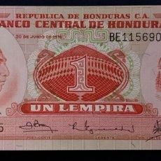 Notas Internacionais: CMC HONDURAS 1 LEMPIRA 1978 PICK 62 SC. Lote 257684620