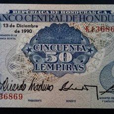 Notas Internacionais: CMC HONDURAS 50 LEMPIRAS 1990 PICK 66-C SC. Lote 257686185