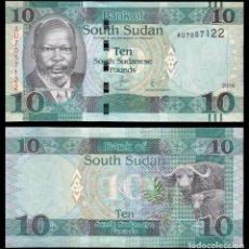 Billetes extranjeros: SOUTH SUDAN 10 LIBRAS 2016 SC / UNC. Lote 257878635