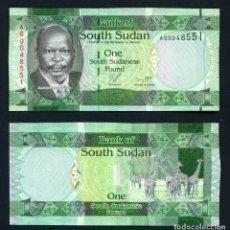 Billetes extranjeros: SOUTH SUDAN 1 LIBRAS 2011 SC / UNC. Lote 257879440