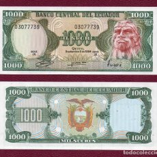 Billetes extranjeros: ECUADOR : 1000 SUCRES. 1984. SC.UNC. PK. 125A. SERIE IK. Lote 270246218