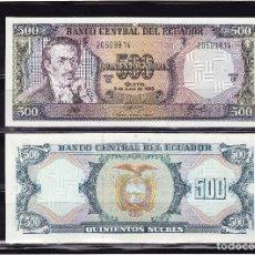 Billetes extranjeros: ECUADOR : 500 SUCRES. 1988. SC.UNC. PK. 124A A. SERIE GX. Lote 270242438