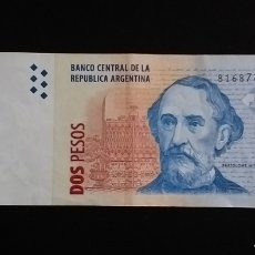 Billetes extranjeros: BILLETE DE 2 PESOS REPUBLICA DE ARGENTINA. Lote 260272095