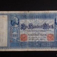Billetes extranjeros: ANTIGUO BILLETE 100 MARCOS BERLIN ALEMANIA AÑO 1908. Lote 260297405