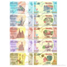 Billets internationaux: MADAGASCAR SET 5 PCS 100 200 500 1000 2000 ARIARY 2017 P 97 101 UNC. Lote 260398255
