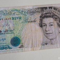 Billetes extranjeros: BILLETE FIVE POUNDS. Lote 260553815