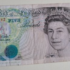 Billetes extranjeros: BILLETE FIVE POUNDS. Lote 260553925