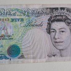 Billetes extranjeros: BILLETE FIVE POUNDS. Lote 260554575