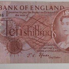 Billetes extranjeros: BILLETE TEN SHILLINGS 1966-1970. Lote 260786215