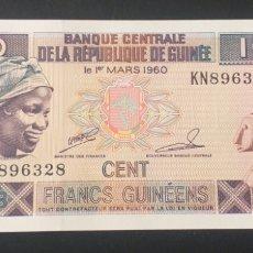 Billetes extranjeros: BILLETE PLANCHA 100 FRANCOS GUINEA AÑO 1998. Lote 261356925