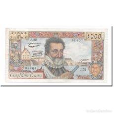 Billetes extranjeros: FRANCIA, 5000 FRANCS, HENRI IV, 1958, 1958-03-06, MBC+, FAYETTE:49.6, KM:135A. Lote 261575760
