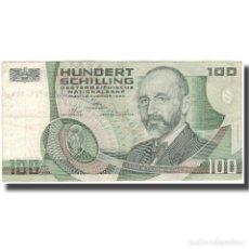 Billetes extranjeros: BILLETE, 100 SCHILLING, 1984, AUSTRIA, 1984-01-02, KM:150, MBC. Lote 261575780