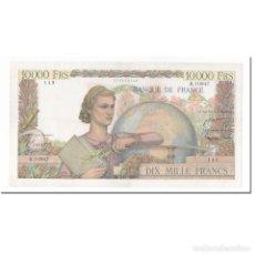 Billetes extranjeros: FRANCIA, 10,000 FRANCS, GÉNIE FRANÇAIS, 1956, 1956-02-02, MBC+, FAYETTE:50.79. Lote 261575985