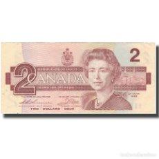Billetes extranjeros: BILLETE, 2 DOLLARS, 1986, CANADÁ, KM:94B, EBC. Lote 261576220