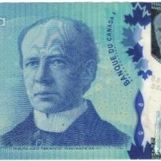 Billetes extranjeros: BILLETE, 5 DOLLARS, 2013, CANADÁ, EBC. Lote 261576225