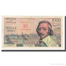 Billetes extranjeros: FRANCIA, 10 NOUVEAUX FRANCS ON 1000 FRANCS, 1957, 1957-03-07, BC, FAYETTE:53.1. Lote 261576415