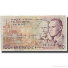 Billetes extranjeros: BILLETE, 100 FRANCS, 1981, LUXEMBURGO, 1981-03-08, KM:14A, BC. Lote 261576435