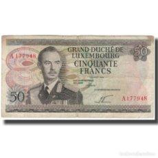 Billetes extranjeros: BILLETE, 50 FRANCS, 1972, LUXEMBURGO, 1972-08-25, KM:55A, BC. Lote 261578805