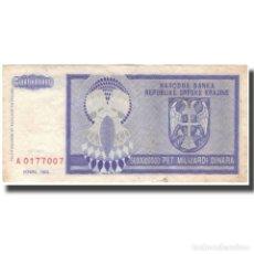 Billetes extranjeros: BILLETE, 5 MILLIARD DINARA, 1993, CROACIA, KM:R27A, MBC. Lote 261579020