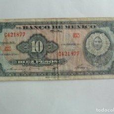 Billetes extranjeros: MÉXICO. BILLETE DE 10 PESOS.1965. Lote 261617405