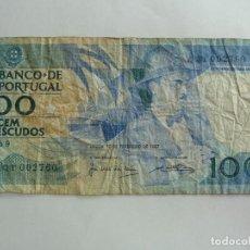 Billetes extranjeros: PORTUGAL. BILLETE DE 100 ESCUDOS. Lote 261746705