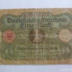 Billetes extranjeros: ALEMANIA. BILLETE DE 1 MARCO. Lote 261765765