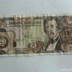 Billetes extranjeros: AUSTRIA. BILLETE DE 20 CHELINES. Lote 261780360