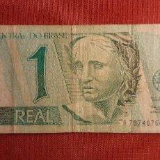 Billetes extranjeros: 1 REAL, BRASIL. 1997. (PICK.243A).. Lote 261847820
