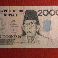 Billetes extranjeros: 20.000 RUPIAH, INDONESIA. 1998/2001. (PICK.138D).. Lote 261848535