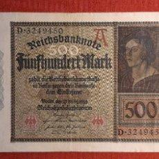 Billetes extranjeros: 500 MARCOS, ALEMANIA. 1922. (PICK.73).. Lote 261850215