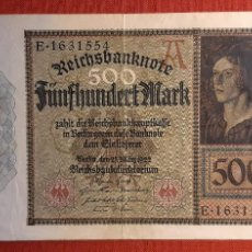 Billetes extranjeros: 500 MARCOS, ALEMANIA. 1922. (PICK.73).. Lote 261850360