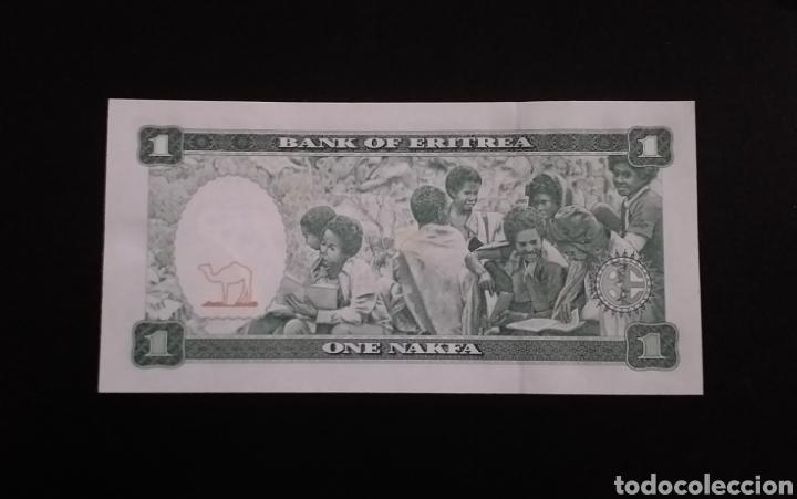 Billetes extranjeros: Billete plancha de 1 Nakfa Eritrea Africa Año 1997 - Foto 2 - 261888115
