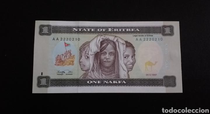 BILLETE PLANCHA DE 1 NAKFA ERITREA AFRICA AÑO 1997 (Numismática - Notafilia - Billetes Internacionales)