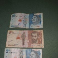 Billetes extranjeros: TRES BILLETES DE COLOMBIA. Lote 262000940