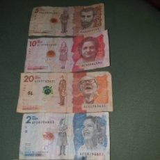 Billetes extranjeros: 4 BILLETES DE COLOMBIA. Lote 262001000