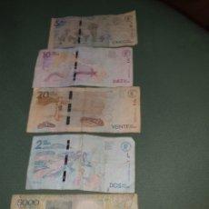 Billetes extranjeros: 5 BILLETES DE COLOMBIA. Lote 262001185