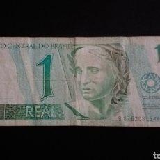 Billetes extranjeros: BILLETE DE 1 REAL BRASIL. Lote 262008090