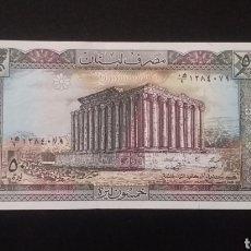 Banconote internazionali: BILLETE PLANCHA DE LÍBANO 50 LIBRAS. Lote 262022635