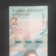 Billetes extranjeros: BILLETE DE 2 BOLIVARES VENEZUELA AÑO 2018. Lote 262043690